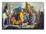 David with Goliath before Saul