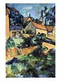 Road Curve in Montgerout Reproduction d'art par Paul Cézanne