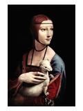Portrait of a Lady with an Ermine Reproduction d'art par Leonardo Da Vinci