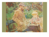 Eugène Manet and His Daughter in Bougival