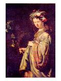 Flora (Portrait of Saskia as Flora)