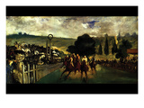 Race at Longchamp by Edouard Manet