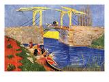 The Langlois Bridge at Arles with Women Washing