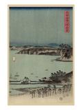 Evening View of Eight Famous Sites at Kanazawa in Musashi Province (Uyokanazawa Hassshoyakei) No1