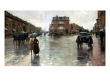Hassam: Rainy Boston  1885