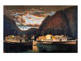 Night on the Hudson  1864
