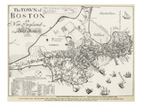 Boston Map  1722