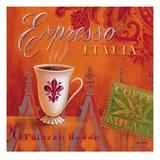 Espresso Italia Reproduction d'art par Angela Staehling