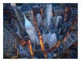 Vue aérienne de Wall street Reproduction d'art par Cameron Davidson