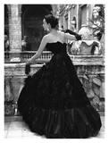 Robe de soirée noire, Rome 1952 Reproduction d'art par Genevieve Naylor