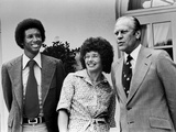 Professional Tennis Stars Arthur Ashe and Billie Jean King  1975
