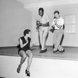 Nat King Cole Rehearses with Marie Bryant and Mel Torme  July 1959