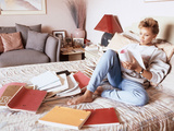 Vanessa Williams  Relaxes While Reading over Movie Scripts  1987