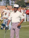 Professional Golfer Lee Elder Works the Greens    1974