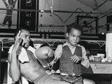 Sugar Ray Leonard with Son  Ray Leonard  Jr