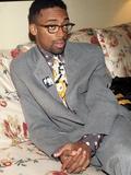 Filmmaker Spike Lee  Wearing a Malcolm X Button  1992