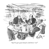 """Say! I've got a great idea for a dark horse—me!"" - New Yorker Cartoon"