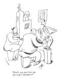 """Don't you just love my skyscraper furniture"" - New Yorker Cartoon"