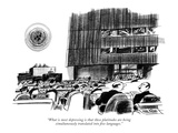 """""""What is most depressing is that these platitudes are being simultaneously…"""" - New Yorker Cartoon"""