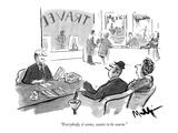 """Everybody  it seems  wants to be warm"" - New Yorker Cartoon"