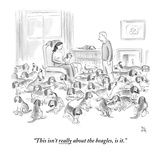 """This isn't really about the beagles  is it"" - New Yorker Cartoon"