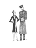 Soldier's hand muff matches his girlfriend's outfit - New Yorker Cartoon