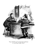"""""""Say  shouldn't you be going down chimneys or something tonight  Mac"""" - New Yorker Cartoon"""