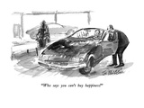 """""""Who says you can't  buy happiness!"""" - New Yorker Cartoon"""