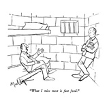 """""""What I miss most is fast food"""" - New Yorker Cartoon"""