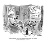 """""""Larry and Phil aren't sure what they want to do  but Michael is intereste…"""" - New Yorker Cartoon"""