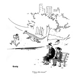 """I love this town!"" - New Yorker Cartoon"
