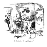 """So this is where the magic happens"" - New Yorker Cartoon"