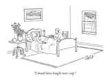 """""""I should have bought more crap."""" - New Yorker Cartoon Giclée premium par Eric Lewis"""