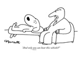 """And only you can hear this whistle"" - New Yorker Cartoon Giclée premium par Charles Barsotti"