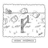 """""""Vegan Insomnia"""" - New Yorker Cartoon"""