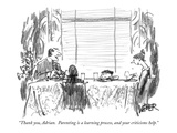 """""""Thank you  Adrian  Parenting is a learning process  and your criticisms …"""" - New Yorker Cartoon"""