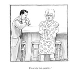 """I'm turning into my father"" - New Yorker Cartoon"