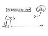 """How Boomerangs Work"" - New Yorker Cartoon"