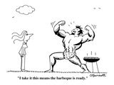 """I take it this means the barbecue is ready"" - Cartoon"