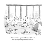 """I know it's just a political buzzword  but the idea of change really reso…"" - New Yorker Cartoon"