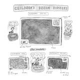 "Children's Dream Dinners-""Superhero Special""-Children's Dream Dinners - New Yorker Cartoon"