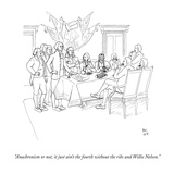 """""""Anachronism or not  it just ain't the fourth without the ribs and Willie …"""" - New Yorker Cartoon"""