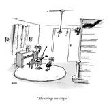 """The strings are catgut"" - New Yorker Cartoon"