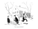 """Guess who got into Hotchkiss!"" - New Yorker Cartoon"