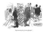 """Stop bouncing bits of trivia off people"" - New Yorker Cartoon"