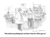 """We tried everything but we fear it lost its will to go on"" - Cartoon"