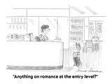 """Anything on romance at the entry level"" - Cartoon"