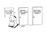 Door signs: Left Wing Intelligence Agency  Central Intelligence Agency  Ri… - Cartoon