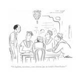 """""""Je leglette  messieurs  nous n'avons pas de losbif à l'amérlicaine"""" - New Yorker Cartoon"""