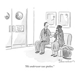 """His underwear was spotless"" - New Yorker Cartoon"